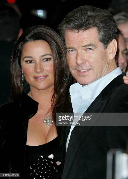 Keely Shaye Smith and Pierce Brosnan during 'After The Sunset' New York Premiere Outside Arrivals at Ziegfeld Theater in New York City New York...