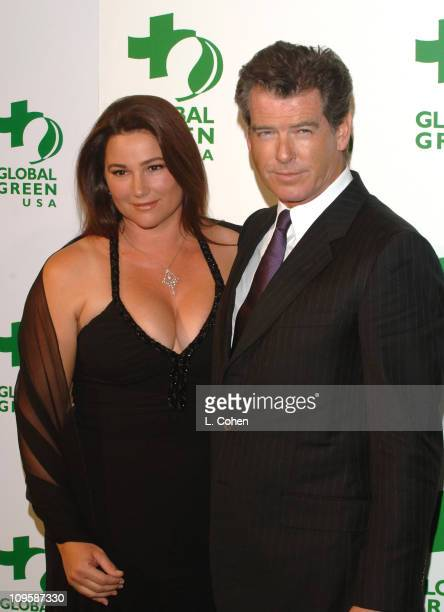 Keely Shaye Smith and Pierce Brosnan during Mikhail Gorbachev and Global Green Announce Awards for Contribution to the Environment Arrivals at...