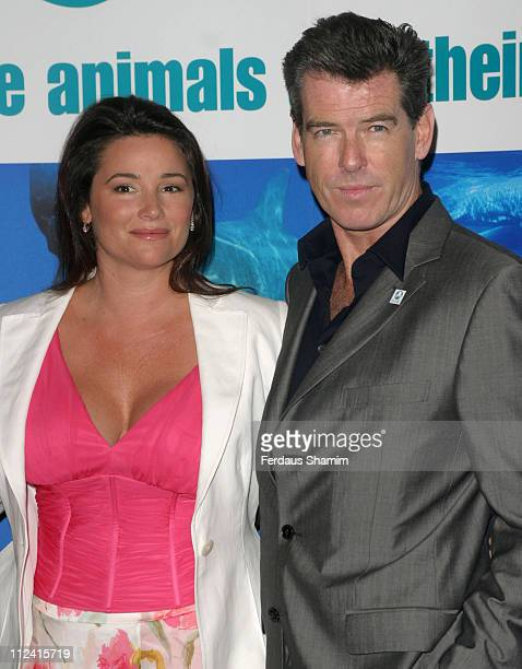 Keely Shaye Smith and Pierce Brosnan during Pierce Brosnan with Keely Shaye Smith and IFAW Launch New Endangered Whale Research Vessel 'The Song Of...