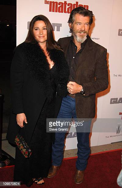 Keely Shaye Smith and Pierce Brosnan during The Weinstein Company's 'The Matador' Los Angeles Premiere Arrivals at Westwood Crest Theater in Los...