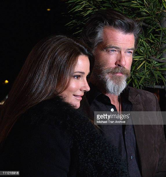 Keely Shaye Smith and Pierce Brosnan during The Weinstein Company's 'The Matador' Los Angeles Premiere Arrivals at Westwood Crest Theater in Westwood...