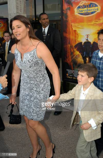 Keely Shaye Smith Dylan Thomas Brosnan during The Wild Thornberry's Movie at Cinerama Dome in Hollywood CA United States