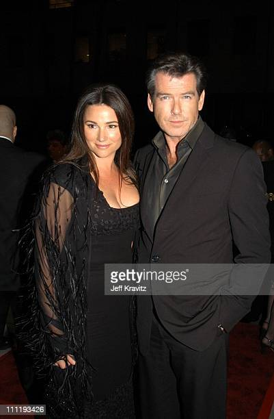 Keely Shaye Smith Pierce Brosnan during US Presents 'Evelyn' at Academy of Motion Pictures Arts Sciences in Beverly Hills CA United States