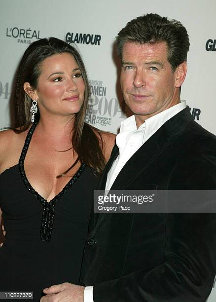 Keely ShayeSmith and Pierce Brosnan during Glamour Magazine Salutes The 2004 'Women of the Year' Red Carpet at American Museum of Natural History in...