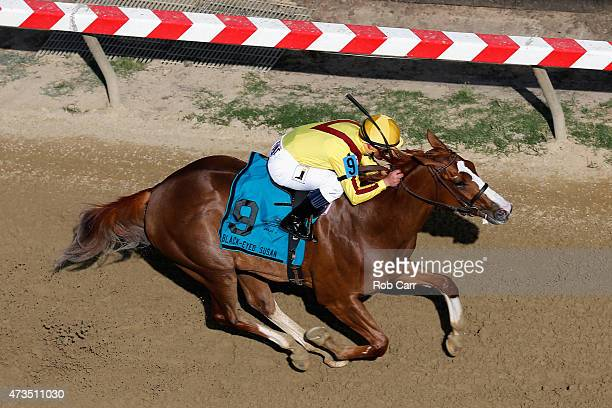 Keen Pauline ridden by Javier Castellano races to win the BlackEyed Susan at Pimlico Race Course on May 15 2015 in Baltimore Maryland
