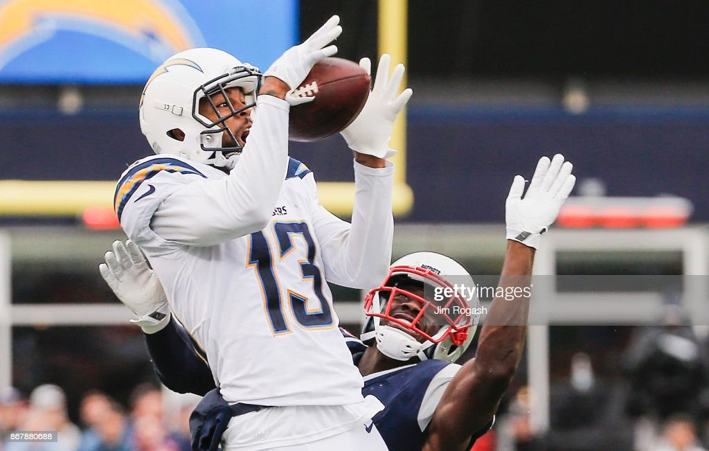 ... jersey village Johnson Bademosi Photo Gallery. Keenan Allen 13 of the  Los Angeles Chargers catches a pass NFL Detroit Lions ... 44eeeeb80