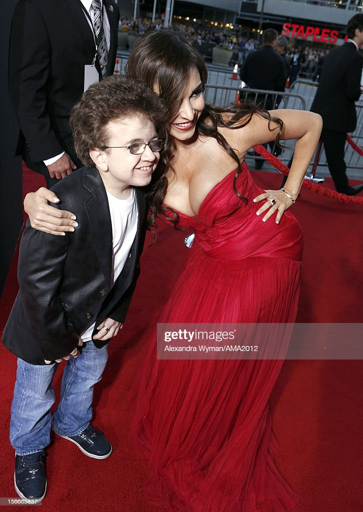 Keenan Cahill and Mayra Veronica attend the 40th American Music Awards held at Nokia Theatre LA Live on November 18 2012 in Los Angeles California