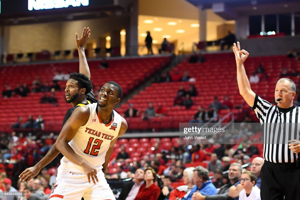 Keenan Evans #12 of the Texas Tech Red Raiders watches his three point shot during the game against the Kennesaw State Owls on December 13, 2017 at United Supermarkets Arena in Lubbock, Texas. Texas Tech defeated Kennesaw State 82-53.