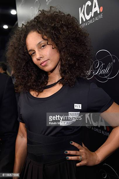 Keep A Child Alive cofounder and singer Alicia Keys attends Keep A Child Alive's Black Ball 2016 at Hammerstein Ballroom on October 19 2016 in New...