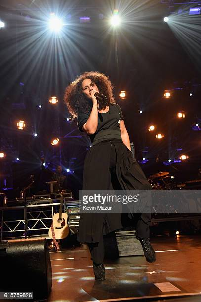 Keep A Child Alive cofounder and singer Alicia Keys performs onstage during Keep A Child Alive's Black Ball 2016 at Hammerstein Ballroom on October...