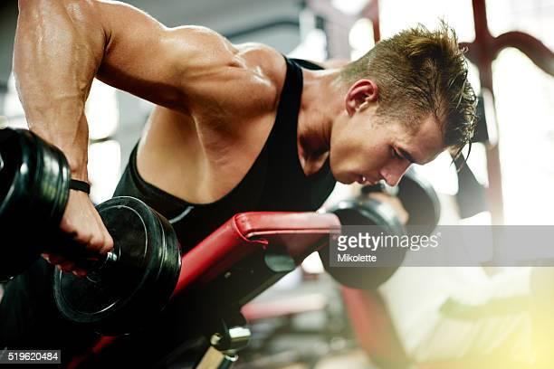 Bleiben Sie ruhig und Muskeln aufbauen