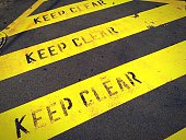 Keep Clear Sign On Road