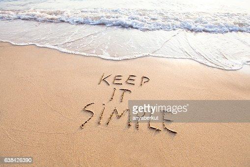 keep it simple : Foto de stock