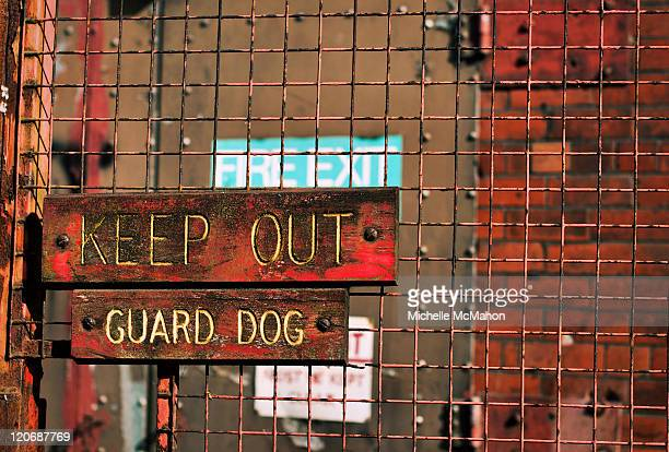 Keep out guard dog sign