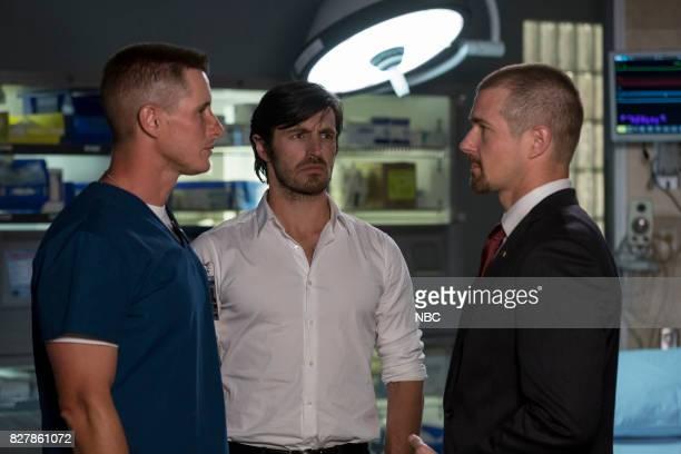 SHIFT 'Keep The Faith' Episode 407 Pictured Brendan Fehr as Drew Allister Eoin Macken as TC Callahan Josh Kelly as Xavier Arnold