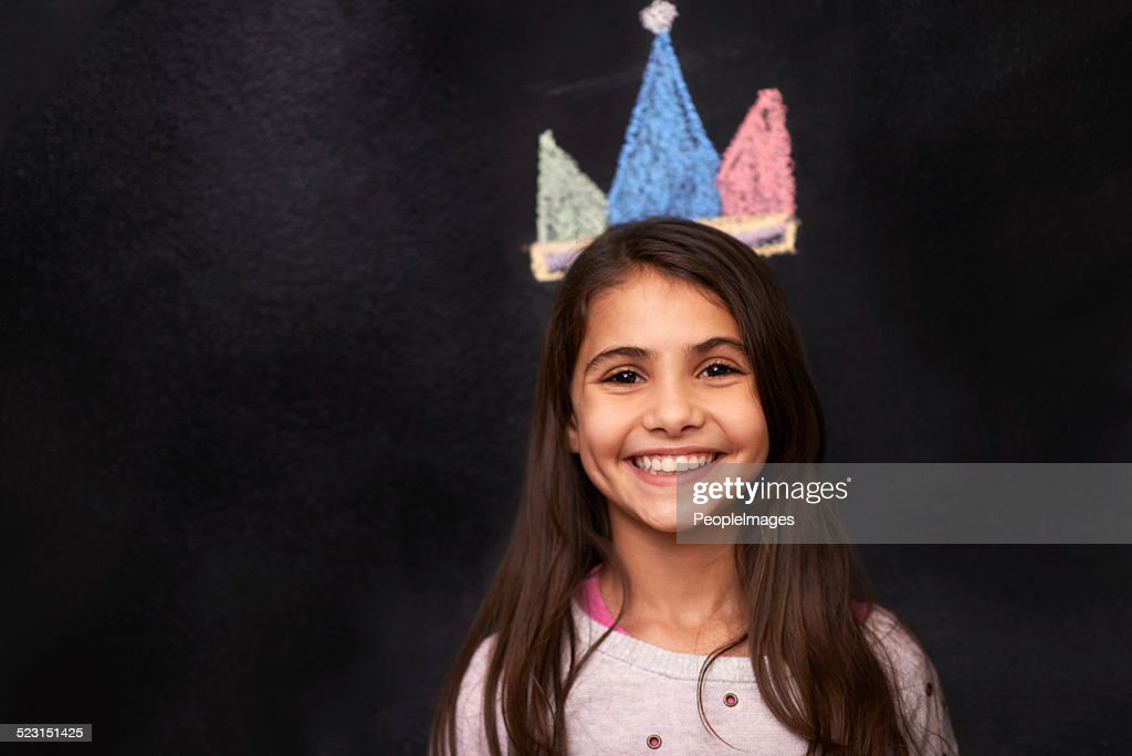 Keep Your Head Up And Crown On Princess Stock Photo