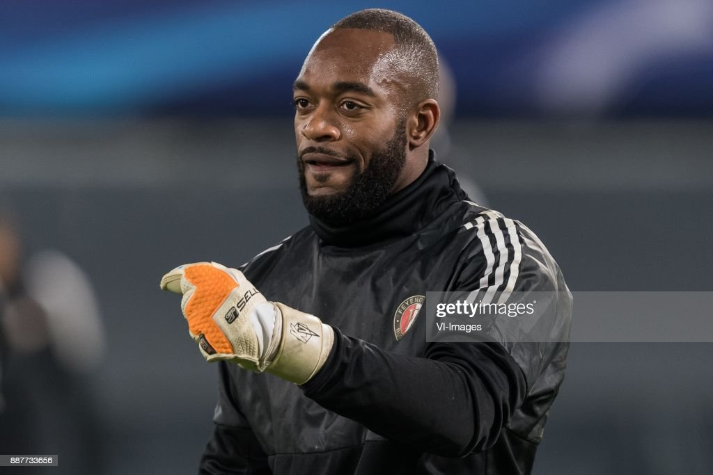 keeper Kenneth Vermeer of Feyenoord during the UEFA Champions League group F match between Feyenoord Rotterdam and SSC Napoli at the Kuip on December 06, 2017 in Rotterdam, The Netherlands