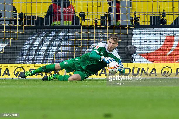 Keeper RonRobert ZIELER of Hannover 96 in action during the Bundesliga match between Borussia Dortmund and Hannover 96 at Signal Iduna Park on...