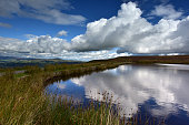 Keepers pond on Blorenge in the Black mountains, Wales