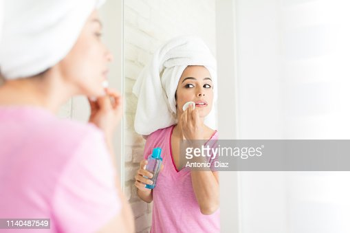 Keeping Her Skin Perfect : Stock Photo