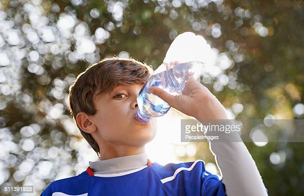 Keeping hydrated during the game