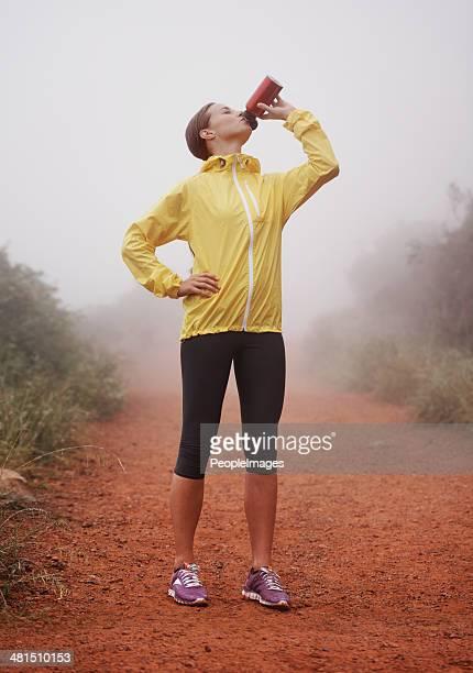 Manter hidratado para o longo caminho pela frente