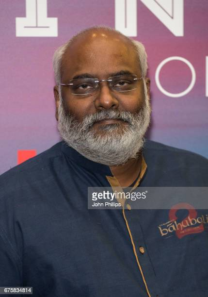 Keeravaani attends a photocall for the upcoming release of Baahubali 2 at BFI Southbank on May 2 2017 in London England
