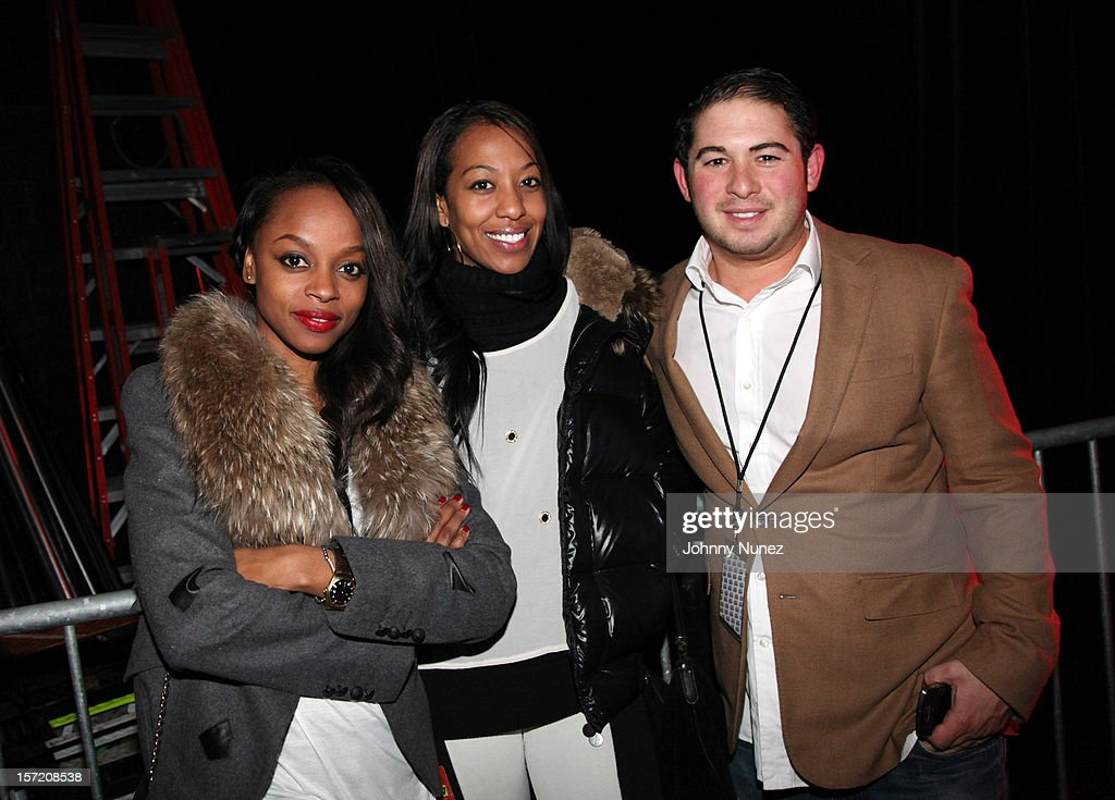 Keesha Johnson, Sari Baez, and Adam Lublin attend Best Buy Theatre on November 29, 2012 in New York City.