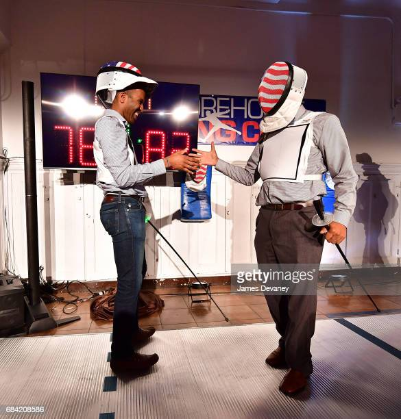 Keeth Smart fences at the 5th Annual Fencing In The Schools Gala at Tim Morehouse Fencing Club on May 16 2017 in New York City