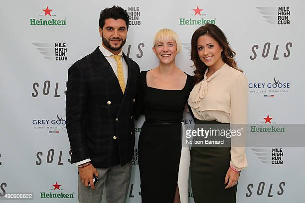 Kegan Schouwenburg SOLS founder and CEO Chloe Melas Senior Entertainment Reporter at HollywoodLife and restauranteur Brian Mazza attend the SOLS...