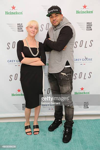 Kegan Schouwenburg SOLS Founder/CEO and DJ Envy attend the SOLS launch party for the new SOLS Flex on October 1 2015 in New York City SOLS Flex are...