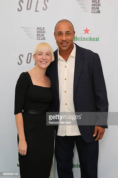 Kegan Schouwenburg SOLS Founder/CEO and John Starks former New York Knicks player attend the SOLS launch party for the new SOLS Flex on October 1...