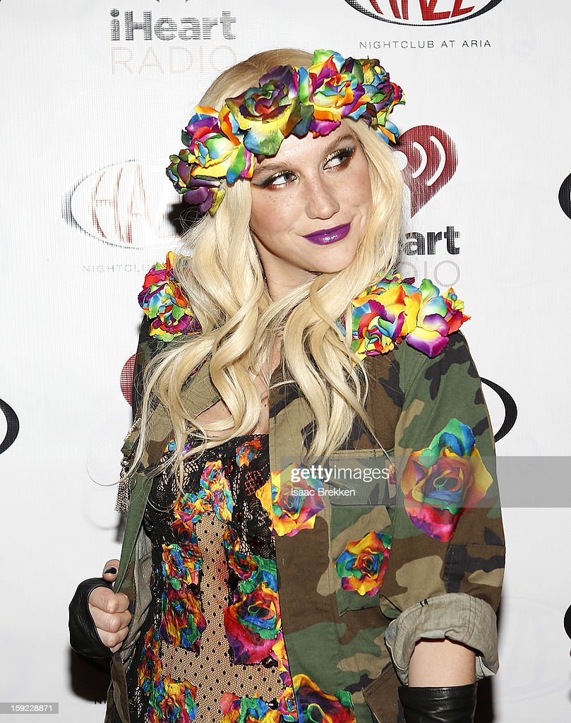 Ke$ha arrives at the iHeartRadio CES exclusive party for a performance at Haze Nightclub at the Aria Resort & Casino at CityCenter on January 9, 2013 in Las Vegas, Nevada.
