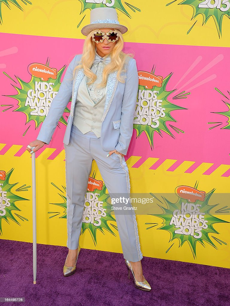 Ke$ha arrives at the Nickelodeon's 26th Annual Kids' Choice Awards at USC Galen Center on March 23, 2013 in Los Angeles, California.
