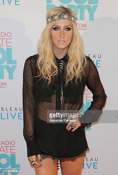 Ke$ha attends iHeartRadio Ultimate Pool Party Presented By VISIT FLORIDA at Fontainebleau Miami Beach on June 29 2013 in Miami Beach Florida