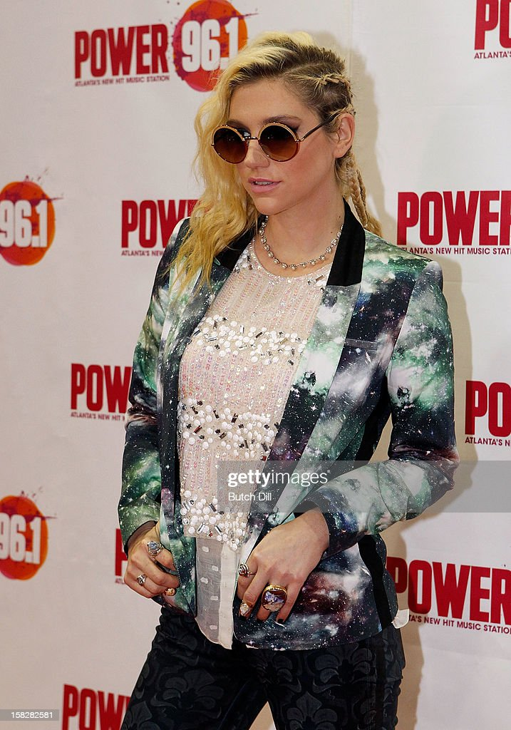 Ke$ha attends Power 96.1's Jingle Ball 2012 at the Philips Arena on December 12, 2012 in Atlanta.