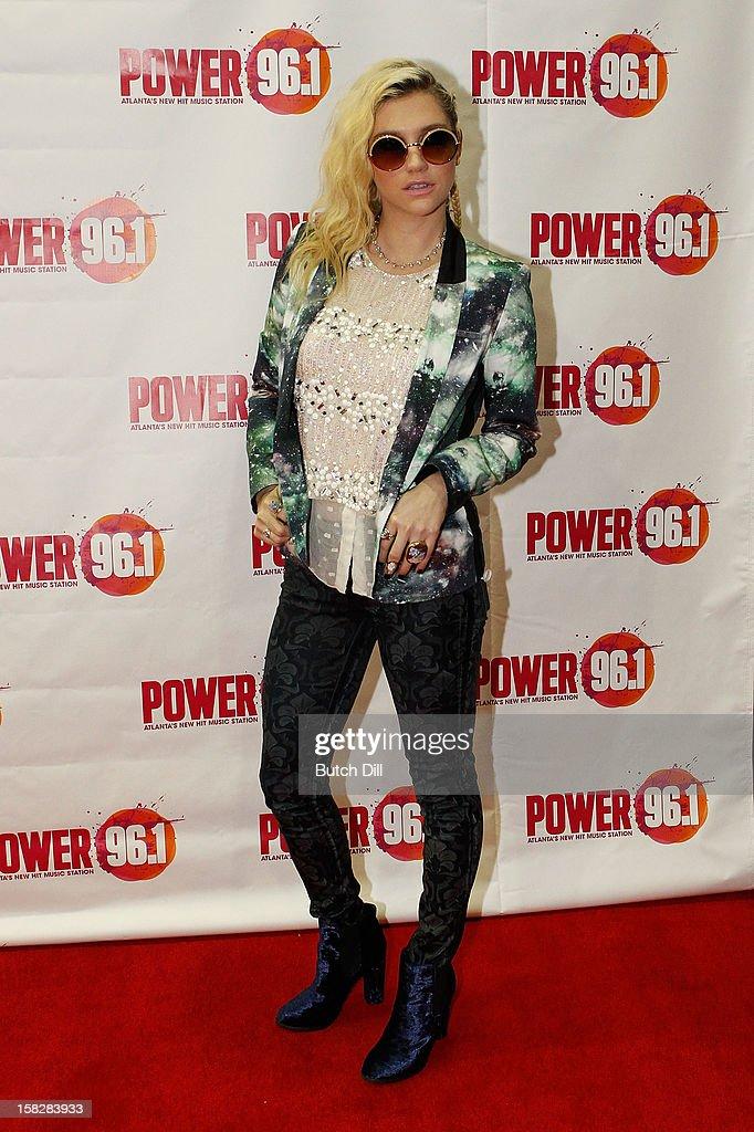 Ke$ha attends Power 96.1's Jingle Ball 2012 at the Philips Arena on December 12, 2012 in Atlanta.