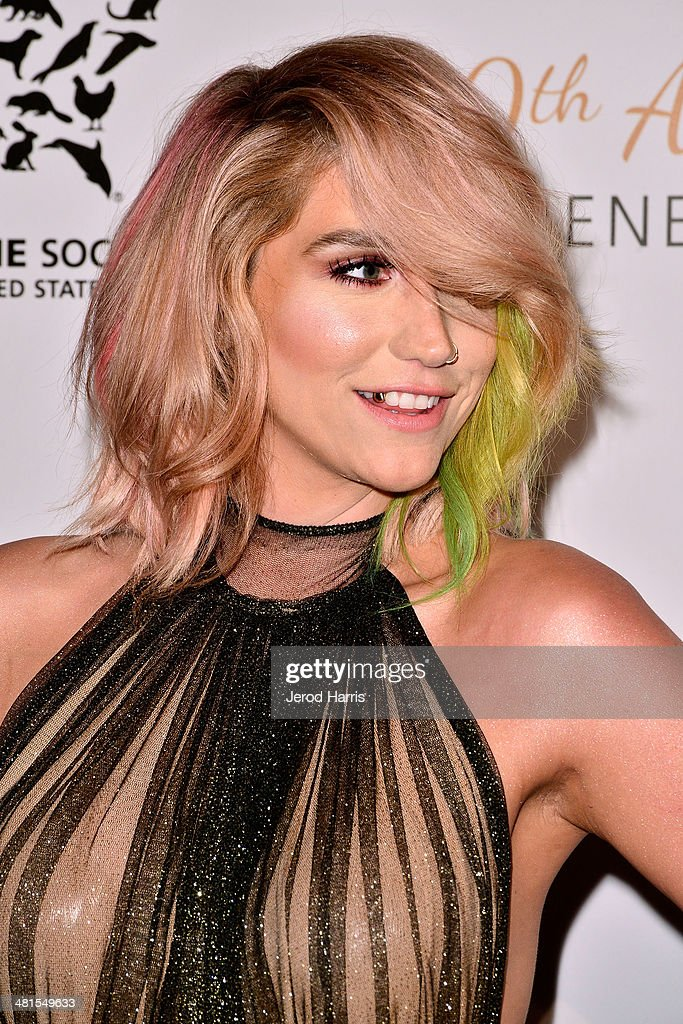 Ke$ha attends the Humane Society of the United States 60th Anniversary Benefit Gala at The Beverly Hilton Hotel on March 29, 2014 in Beverly Hills, California.