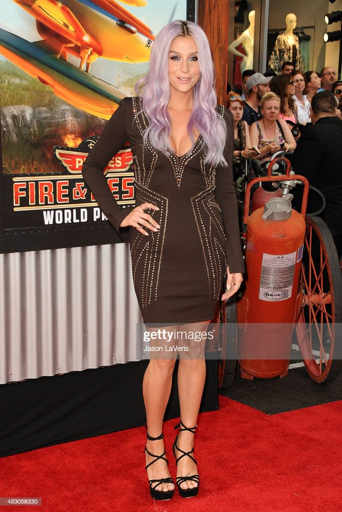 <a gi-track='captionPersonalityLinkClicked' href=/galleries/search?phrase=Ke%24ha&family=editorial&specificpeople=6718222 ng-click='$event.stopPropagation()'>Ke$ha</a> attends the premiere of 'Planes: Fire & Rescue' at the El Capitan Theatre on July 15, 2014 in Hollywood, California.