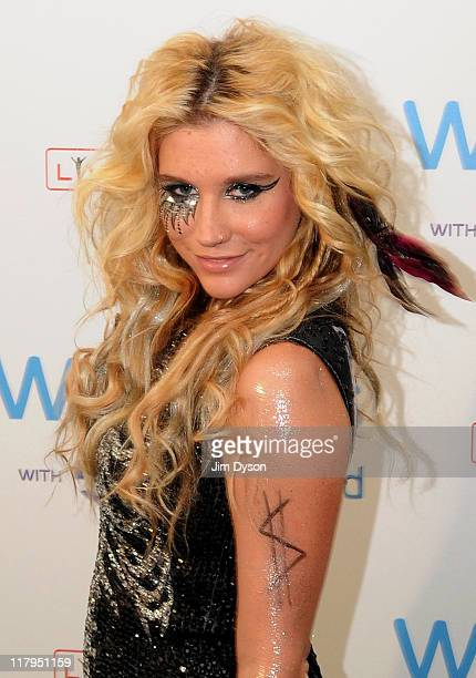 Ke$ha attends the second day of the Wireless Festival at Hyde Park on July 2 2011 in London England