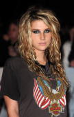 Ke$ha attends the UK premiere of 'Michael Jackson's This Is It' at Odeon Leicester Square on October 27 2009 in London England