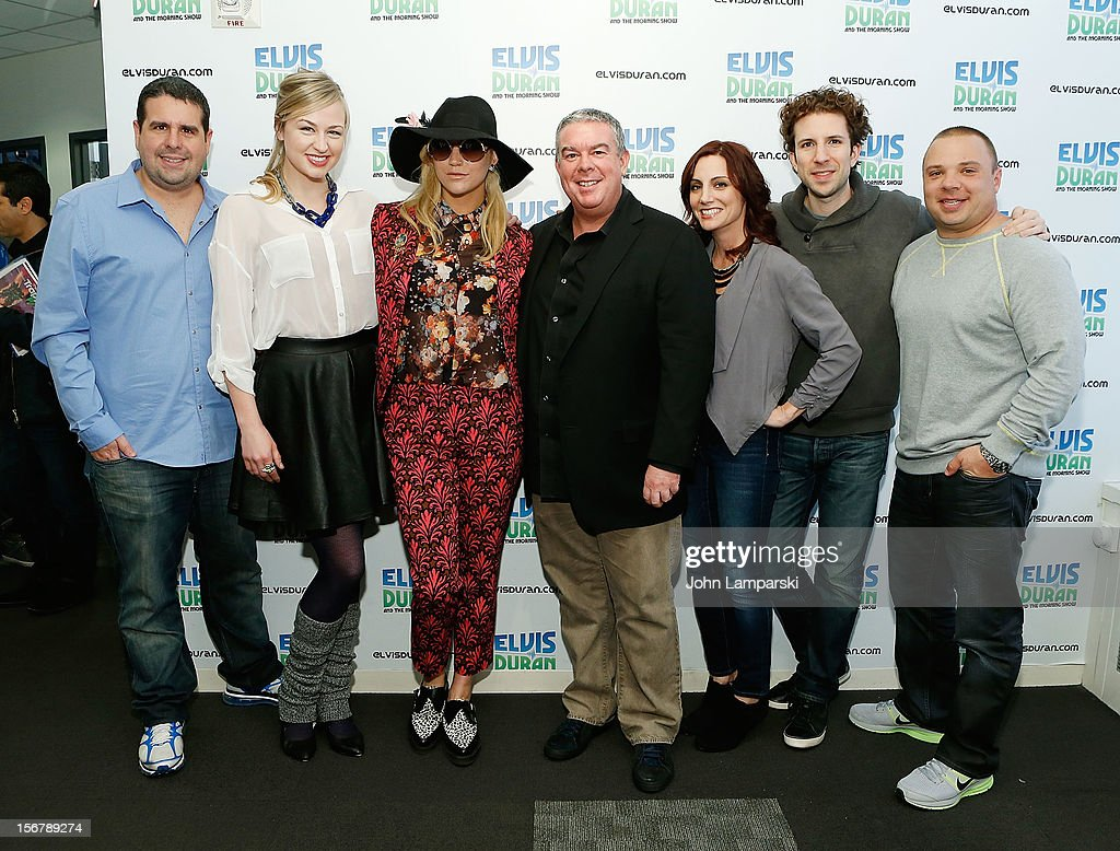 Ke$ha Elvis Duran and the Z100 morning crew visits at Z100 Studio on November 20, 2012 in New York City.