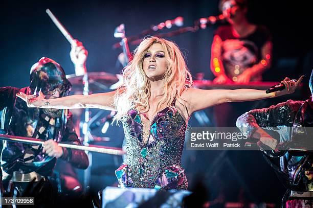 Ke$ha performs at Le Trianon on July 16 2013 in Paris France