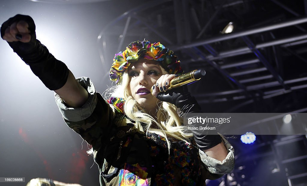 Ke$ha performs at the iHeartRadio CES exclusive party at Haze Nightclub at the Aria Resort & Casino at CityCenter on January 9, 2013 in Las Vegas, Nevada.