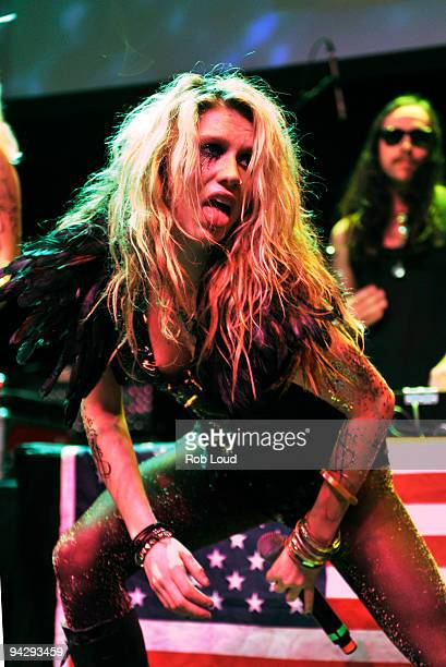Ke$ha performs at the Z100 Coca Cola All Access Lounge preshow at Hammerstein Ballroom on December 11 2009 in New York City