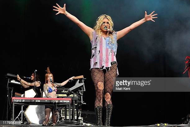Ke$ha performs on day two of Wireless Festival at Hyde Park on July 2 2011 in London England