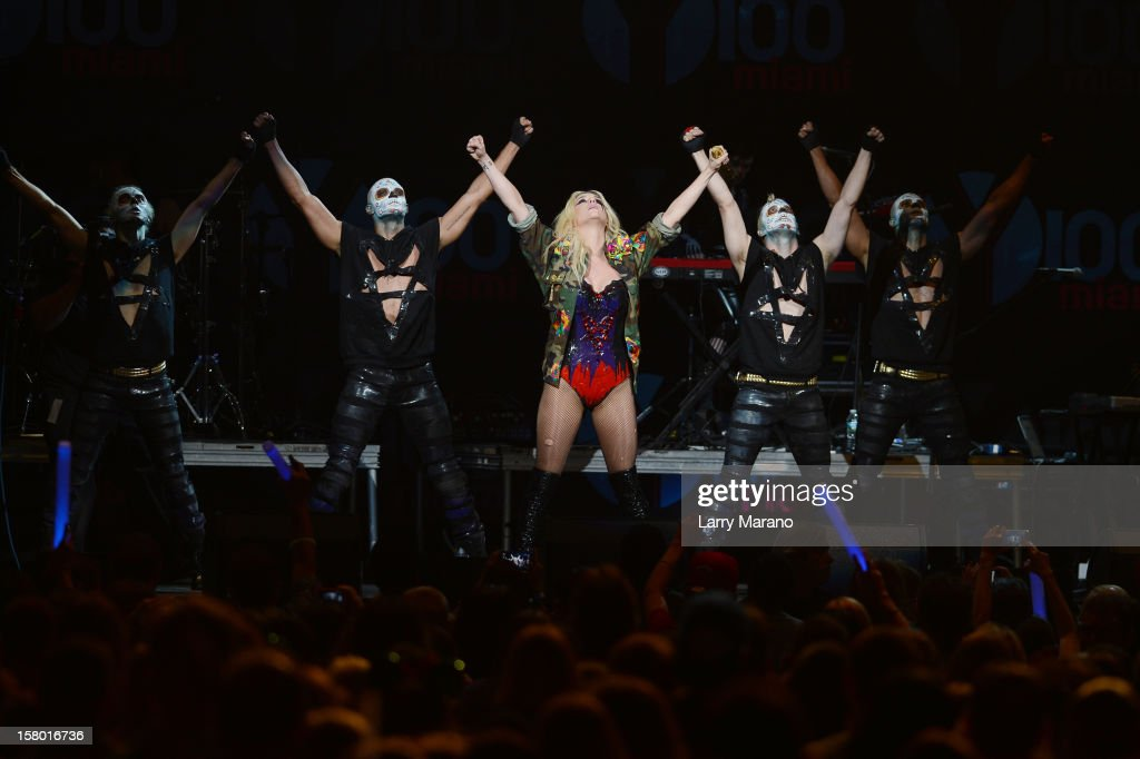 <a gi-track='captionPersonalityLinkClicked' href=/galleries/search?phrase=Ke%24ha&family=editorial&specificpeople=6718222 ng-click='$event.stopPropagation()'>Ke$ha</a> performs onstage during the Y100's Jingle Ball 2012 at the BB&T Center on December 8, 2012 in Miami.