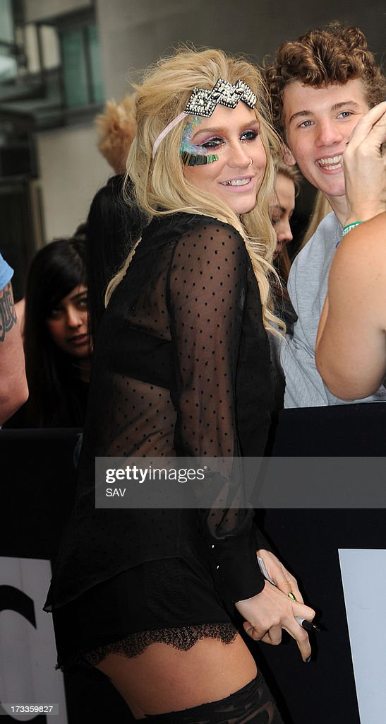 <a gi-track='captionPersonalityLinkClicked' href=/galleries/search?phrase=Ke%24ha&family=editorial&specificpeople=6718222 ng-click='$event.stopPropagation()'>Ke$ha</a> pictured at the BBC Radio 1 studios on July 12, 2013 in London, England.