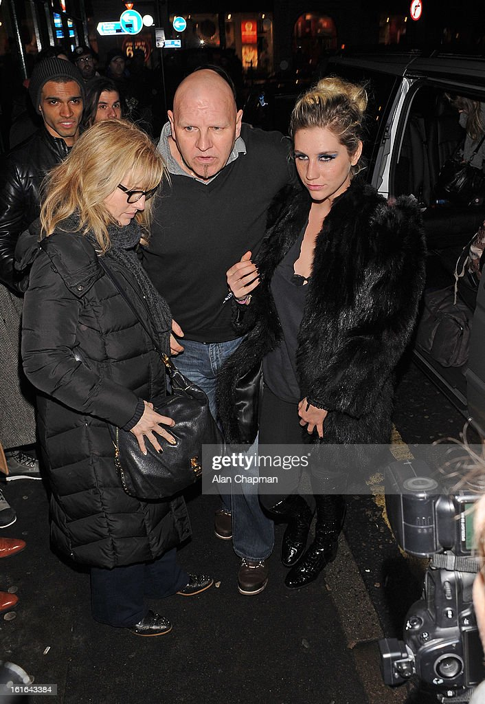 Ke$ha sighting at the Crowbar Soho on February 13, 2013 in London, England.
