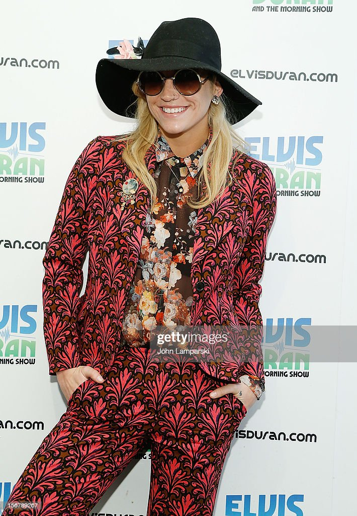 Ke$ha visits at Z100 Studio on November 20, 2012 in New York City.